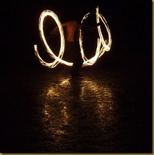Me doing fire poi