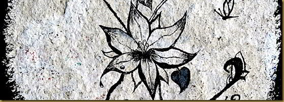 Flower painting rock