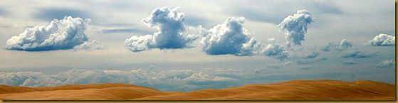 Clouds over sand dunes - New South Wales - Australia