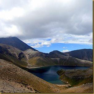 Tama Lake and Mount Ngauruhoe