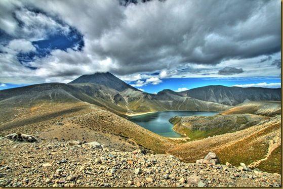 Tama Lakes and Mount Ngauruhoe