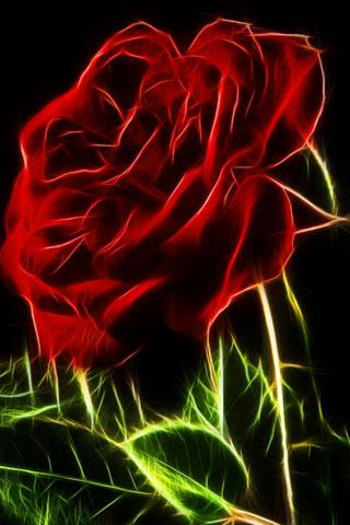 3D Roses  wallpaper - screenshot