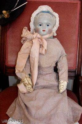 Antique rubber doll rare 1870s Treasury of Beautiful Dolls John Noble