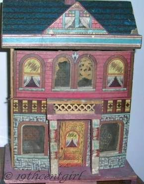 Antique dollhouse Bliss lithograph 1890s 1900s