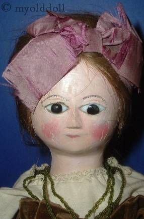 Antique Queen Anne wooden wood doll 1770s 1780s 1700s