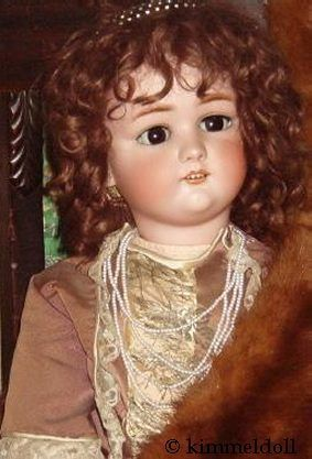 Antique bisque doll Jutta COD Cuno Otto Dressel