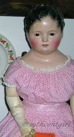 Andreas Voit antique papier-mâché doll 1830s 1850s