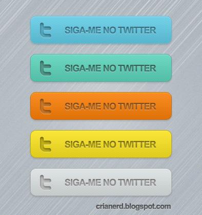 Botões twitter - exemplo