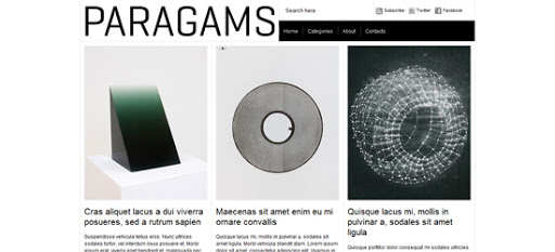 Paragams wordpress template