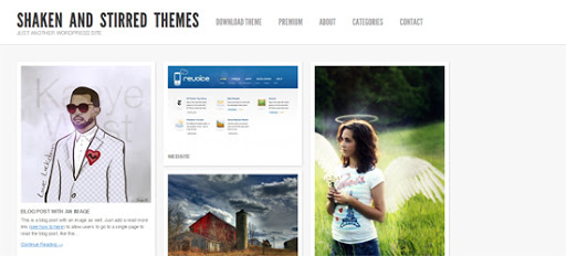 Shaken and Stirred wordpress template