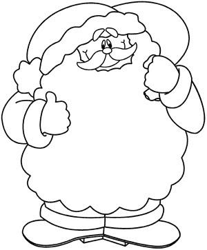 Dibujos Santa Claus Para Pintar Y Colorear