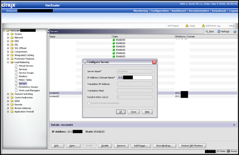 Configuring Citrix NetScaler to Load Balance VMware View