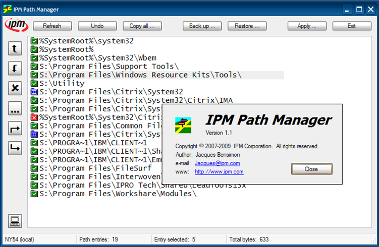 IPM Path Manager ScreenShot