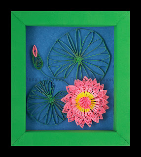 Water lily, paper quilling