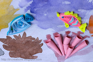 Quilled fish and tube sponge