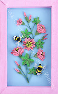 Bumblebees and flowers