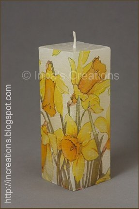 Innas Creations Easy To Make Decoupage Candles