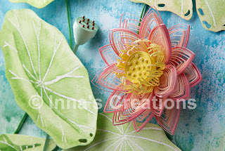 Quilled lotus, detail