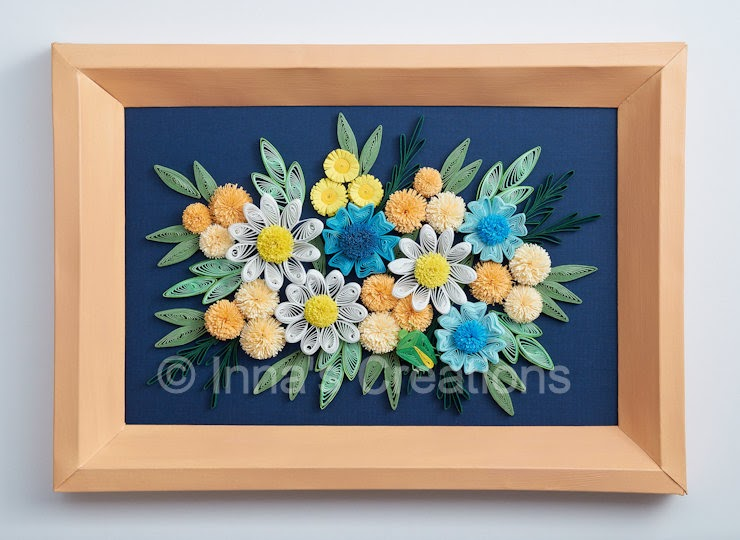 Inna S Creations Simple Quilled Flowers In A Beveled Frame