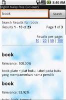 Screenshot of Free English Malay Dictionary