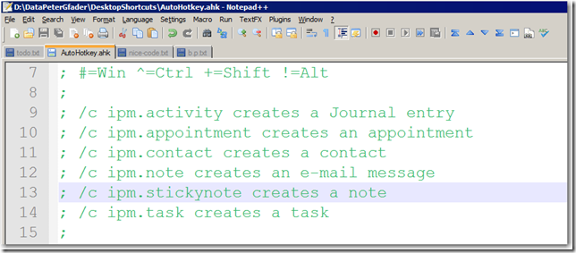 Peter Gfader 's Blog: Notepad++ is awesome, and OneNote not
