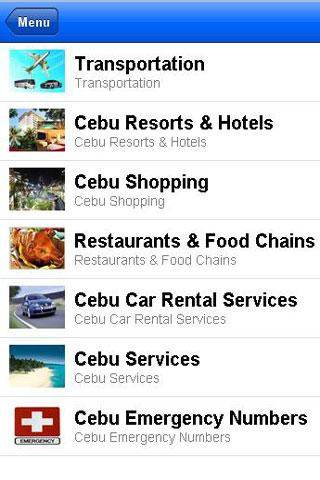 Cebu City App- screenshot