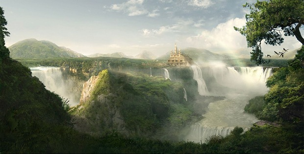 Fantasy-and-green-landscape-illustration