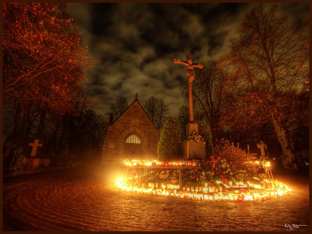 Church in All saints Day-HRD Architecture and Night Photography