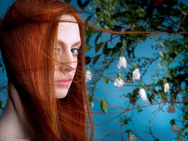 Gorgeous And Shiny Red Hair Beauty Photography Glazemoo