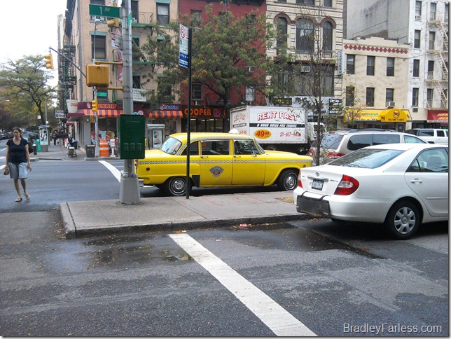 Old fashioned New York City Taxi.