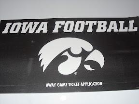 Iowa Football Away Ticket Application