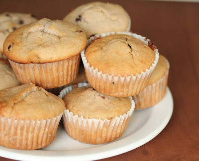 close-up photo of muffins piled on a plate