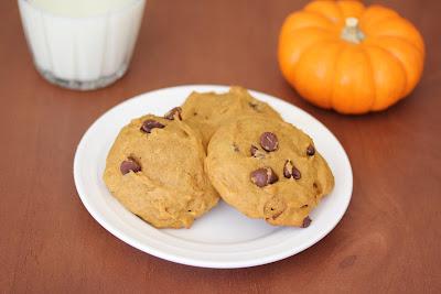 Soft Pumpkin chocolate chip cookies.