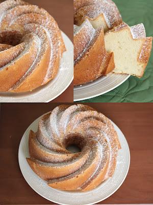 photo collage of honey pound cake