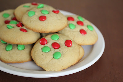 M&M Holiday Cookies