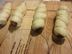 photo of the sausage rolls ready to be baked