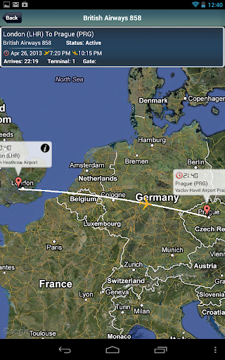 Prague Airport+flight tracker