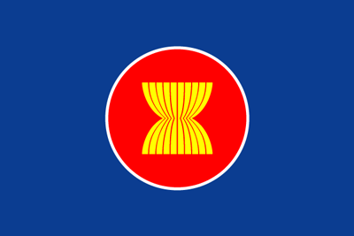 ASEAN(東南アジア諸国連合)の旗だそうだ、知らなかった