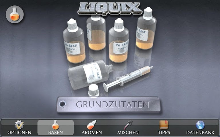 android LIQUIX Liquidrechner & Manager Screenshot 1