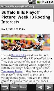 Buffalo Bills News (NFL) - screenshot thumbnail