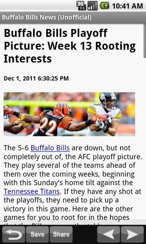 Buffalo Bills News (NFL) - screenshot
