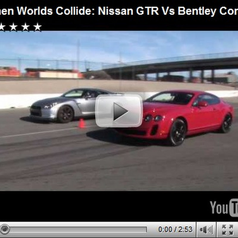 Nissan GTR Vs Bentley Continental Super : Motor Trend Video