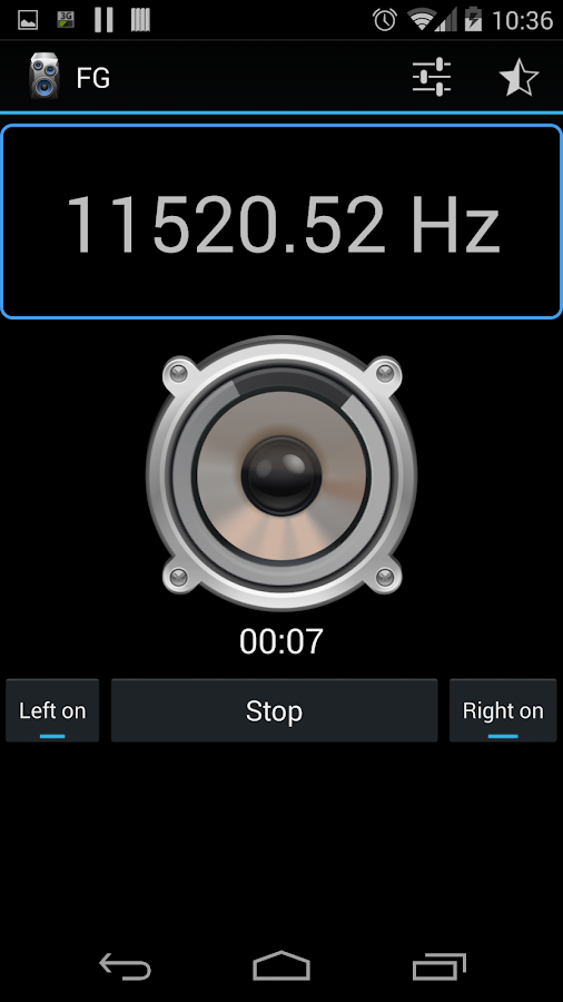 Frequency Sound Generator - screenshot