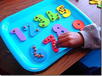 Fun w/Foam Numbers & Beans