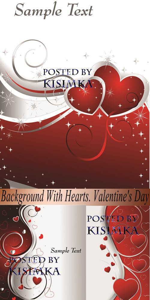 Stock: Background With Hearts. Valentine's Day