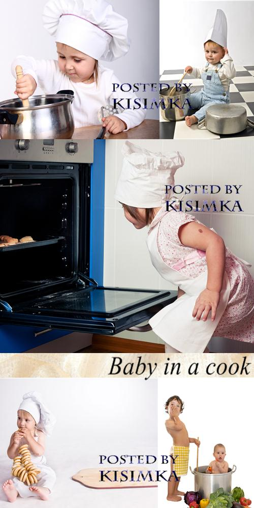Stock Photo: Baby in a cook