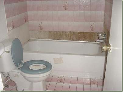 pink tiles ugly house photos