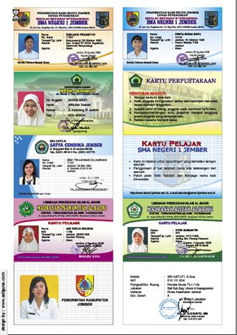 Template ID Card Sekolah - Jayadi 25
