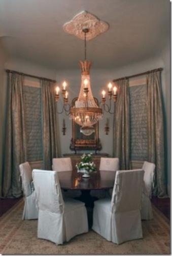 Julie neill juliette chandelier with round table
