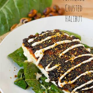 Pistachio Crusted Halibut.